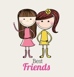 Best friends design vector