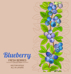 blueberry pattern on color background vector image