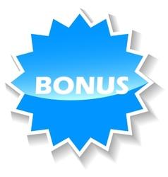 Bonus blue icon vector