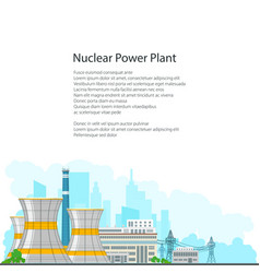 Brochure nuclear power plant on white background vector