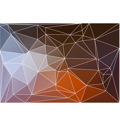 brown orange white geometric background with mesh vector image