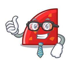 businessman quadrant character cartoon style vector image