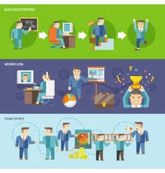 Businessman Working Set vector