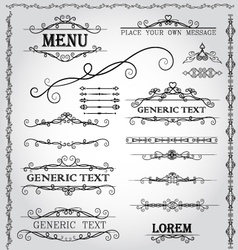 Calligraphic design elements and page decoration vector