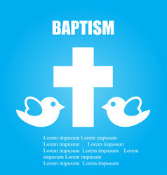 Card cover baptism vector