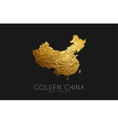 China map Golden China logo Creative China logo vector