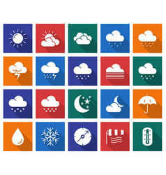 collection of square icons weather vector image