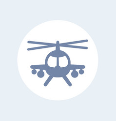 Combat helicopter icon isolated over white vector