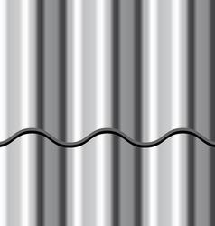 corrugated iron shiny metal seamless background vector image