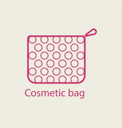 cosmetic bag thin line icon vector image