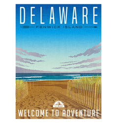 Delaware united states travel poster vector