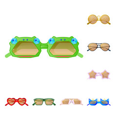 design of glasses and sunglasses icon set vector image