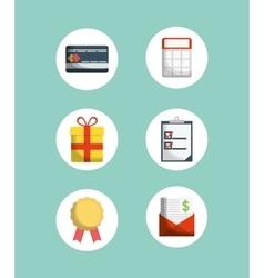 digital marketing shopping vector image