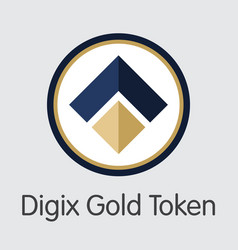 Digix gold token - digital coin icon vector