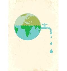 earht water vector image