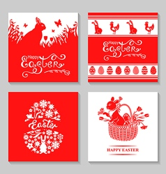 Easter card set vector
