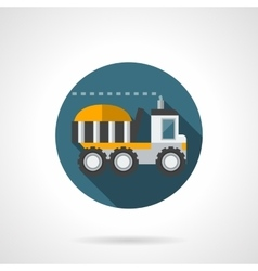 Farming truck flat color design icon vector