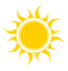 flat sun icon symbol for vector image