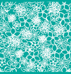 Floral seamless pattern background spring vector