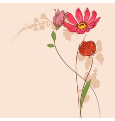flowers Floral greeting card vector image