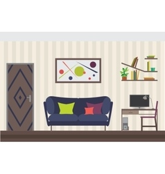 Furniture Set Flat for you vector image