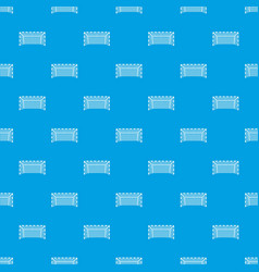 Goal post pattern seamless blue vector