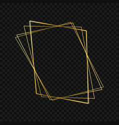gold luxury frame vector image