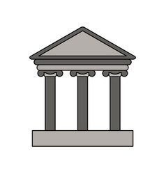 gray color graphic parthenon icon vector image