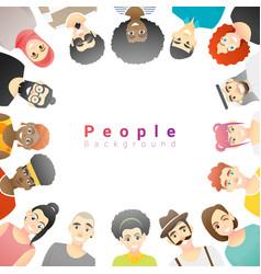Group happy multi ethnic people vector