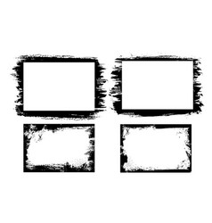 grunge photo frames borders with distressed edges vector image