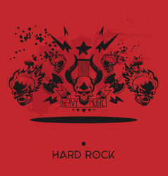 heavy metal pattern rock music design vector image