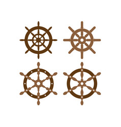 helm wheel icon design template isolated vector image
