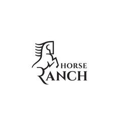 horse ranch logo vector image