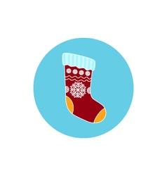 Icon Christmas Colorful Sock vector