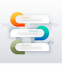 Infographic template showing three steps vector