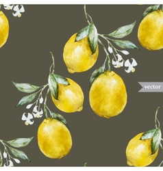 Lemon pattern4 vector image