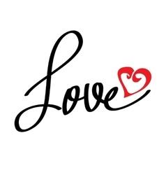 Letters love text doodles vector