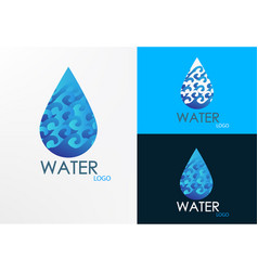 logo wave and water vector image