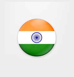 made in india of banner and badge vector image