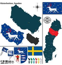 Map of Vasterbotten vector image