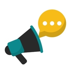 Megaphone speaker messsage marketing vector