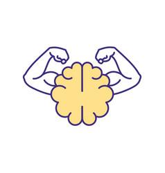 Mental strength rgb color icon vector