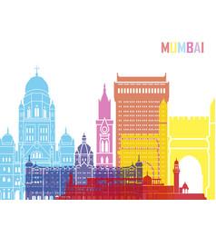 mumbai skyline pop vector image