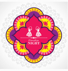 navratri and garba utsav greeting card vector image