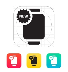 New marker on smart watch icon vector