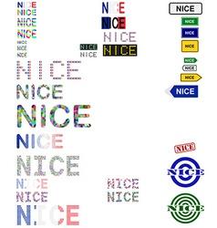 Nice text design set vector