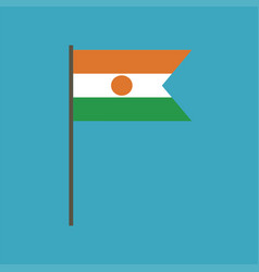 Niger flag icon in flat design vector