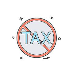 no tax icon design vector image