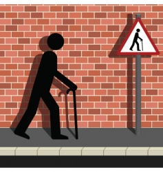 old pedestrian vector image