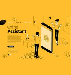 online assistant service vector image